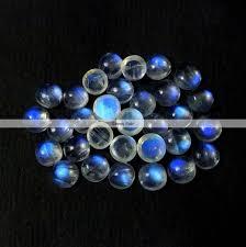 <b>5 pieces</b> 8mm <b>rainbow</b> moonstone round cabochon blue fire flat | Etsy