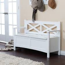 brown modern bedroom benches storage shabby  furniture vintage style painted storage bench aside framed gla
