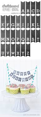 first day of school chalkboard printables printable chalkboard letters bunting add some charm to your cakes cupcakes and pies