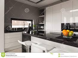 Black White Kitchen Designs Black And White Kitchen Design Stock Photo Image 52560461