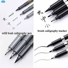 3 шт. китайский японская <b>каллиграфия кистью</b> маркер или ...