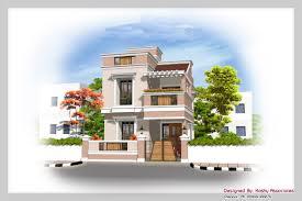 Duplex House Design at sq ft