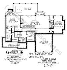 Breckenridge Cottage House Plan   Active Adult House Plans    breckenridge cottage house plan   optional basement plan
