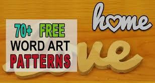 <b>Word Art</b> Patterns, Templates, Stencils, FREE Printable Designs ...