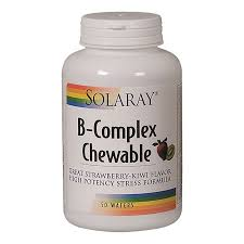 <b>B Complex Chewable</b> - Strawberry Kiwi (50 Wafers) by Solaray at ...