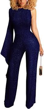 Yiershu Women's Sexy V Neck Jumpsuits Elegant ... - Amazon.com