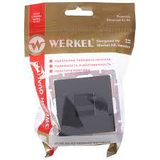 <b>Розетка</b> компьютерная накладная <b>Werkel RJ45</b>, цвет черный в ...