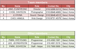 3 contact list gorgeous seoul contact list