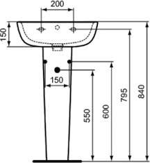 <b>Пьедестал</b> для раковины <b>Ideal Standard Esedra</b> T283901 купить в ...