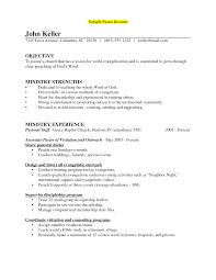 Minister Resume Sample Resume For Your Job Application