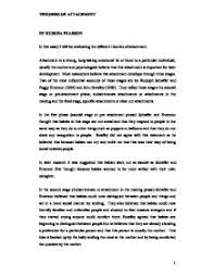 essays attachment theory   how to write a five paragraph essay outlineget access to attachment theory john bowlby essays only from anti essays attachment theory is defined as the characters associated   the long term