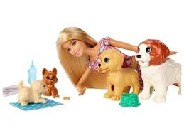 Купить <b>куклу</b> Набор <b>Mattel Barbie</b> (FXH08) <b>Барби</b> и щенки по цене ...