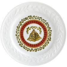 """Louvre thanksgiving Gift box <b>set of 4 Christmas</b> salad plates 8.5"""" in ..."""