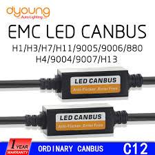 c12 <b>2PCS H1 H4</b> H7 LED Headlight Canbus Wiring Kit 9005 9006 ...