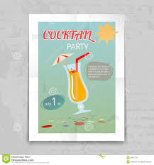 cocktail party vintage invitation card template stock vector vintage cocktail party invitation poster stock photo