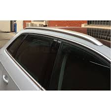 Silver Accessories <b>Roof Rack Side Rails</b> Luggage Carriers Bar Trim ...