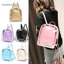 ₱Sd-bag   <b>2pcs Women Transparent</b> PVC Backpack Casual Girls ...