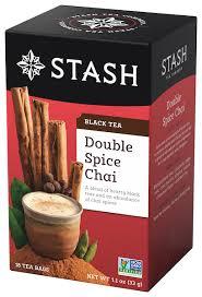 Stash <b>Double Spice</b> Chai <b>Black Tea</b> Bags, 18 Count - Walmart.com ...