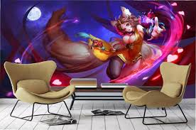 20193D Wall Paper Home Decor <b>Custom</b> 3d <b>Cartoon</b> Girl Living ...