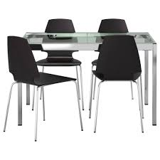 metal dining room chairs chrome: contemporary dark iron dining chair with black leather padded seat