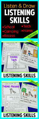 best images about a listening skills esl sub listen and follow directions brag tag qr code data tracker