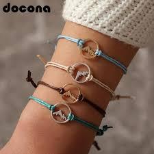 <b>Docona Bohemia</b> Colorful Mountain Charm Bracelets For <b>Women</b> ...