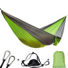 new double hammock 450 lbs portable travel camping hanging swing lazy chair canvas hammocks red