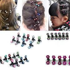 <b>12Pcs</b>/<b>Lot</b> Girls Fashion Kid Sweet Rhinestone Flower Mini <b>Hair</b> ...