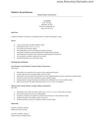 pediatric nursing cover letter short sample  resume template    resume template nursing resume objective