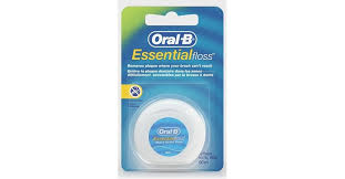Купить ORAL-B <b>Зубная нить</b> Essential Floss Mint вощеная, Флосс ...