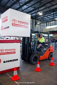 toyota promotes safe driving skills toyota material handling toyota pomotes forklift driving skills at sydney markets