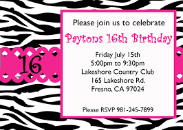 birthday party invitations for boys invitations ideas 16 birthday invitations for girls