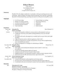 accountant resume example examples of accounting resumes