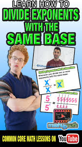 best images about awesome algebra resources check out our animated algebra lesson on dividing exponents the same base our passion