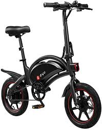 AmazeFan <b>DYU D3F</b> Folding <b>Electric</b> Bike, Smart Mountain Bike for ...