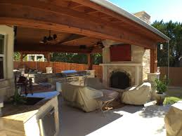 covered patio freedom properties: lago vista patio cover with outdoor fireplace and kitchen