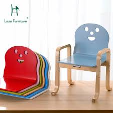 Louis Fashion Children Chairs Simple <b>Modern</b> Solid Wood <b>Cartoon</b> ...