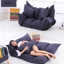 2019 <b>Linen Fabric Upholstery Adjustable</b> Floor Sofa Bed Lounge ...