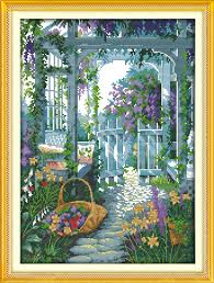 <b>Everlasting love The garden</b> gate Chinese cross stitch kits ...