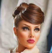 نتیجه تصویری برای لباس عروس و مدل مو