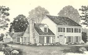Vintage House Plans s  Early American Southern Heritage    Vintage House Plans s  Early Colonial