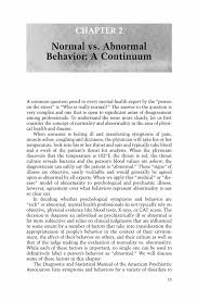 normal vs abnormal behavior a continuum springer first responder s guide to abnormal psychology first responder s guide to abnormal psychology