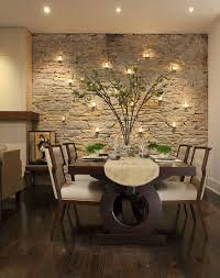 Stone Dining Room Table Stone Wall Dining Room Contemporary With Window Bench Seating