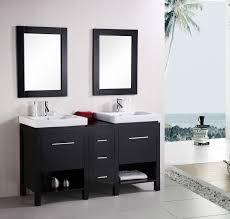 element contemporary bathroom vanity set: design element new york double  inch espresso modern bathroom vanity set