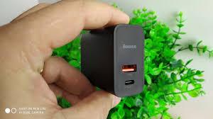 <b>Baseus</b> Quick Charge 4.0 <b>зарядка</b> для Redmi Note 7 / 30W PD 5V 5A