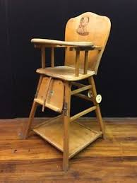 image is loading antique solid wood convertible high low high chair antique high chairs wooden