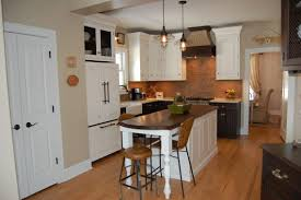 countertops dark wood kitchen islands table: farm house natural wooden cabinet with granite top sink kitchen interior furniture l shaped white varnished island dining table small kitchens islands