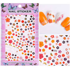 <b>1 Sheet Embossed 3D</b> Nail Stickers Blooming Flower 3D Nail Art ...