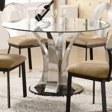 Fitted Dining Room Furniture Modern Dining Table Bases With Round Glass Top Dining Table