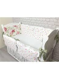 <b>Комплект</b> постельного белья в детскую <b>кроватку</b> (гортензия), 6 ...